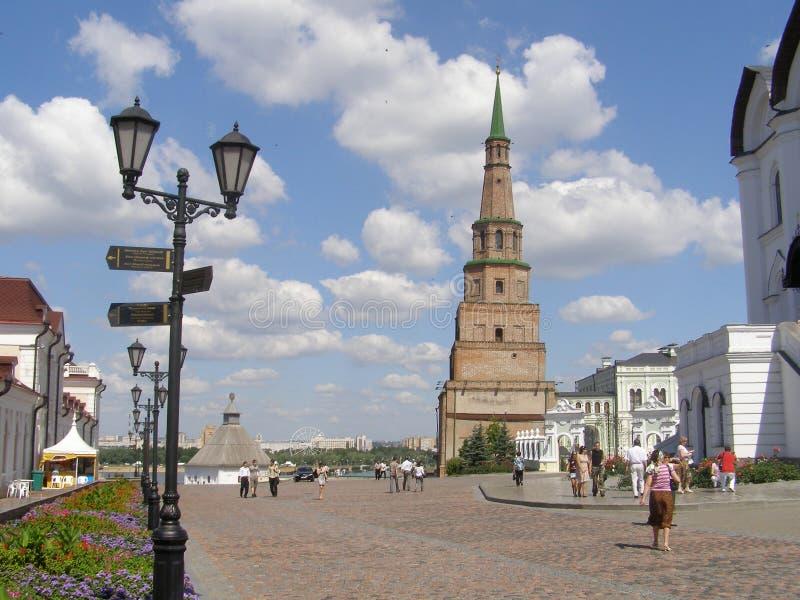 uma das torres do Kremlin de Kazan fotografia de stock royalty free
