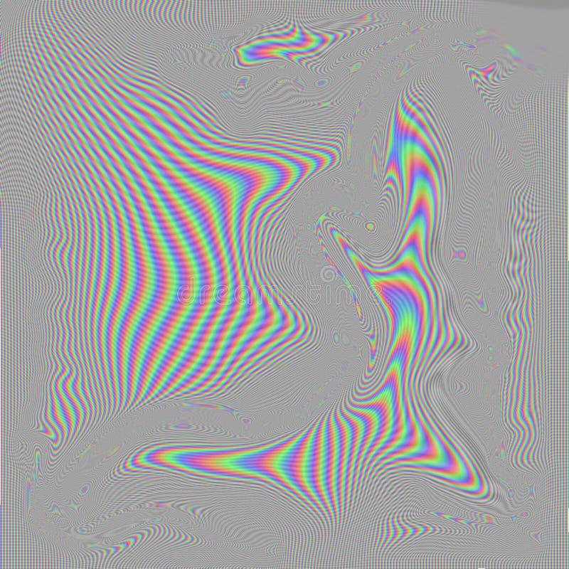 Uma distorção da tela da televisão do RGB ilustração stock
