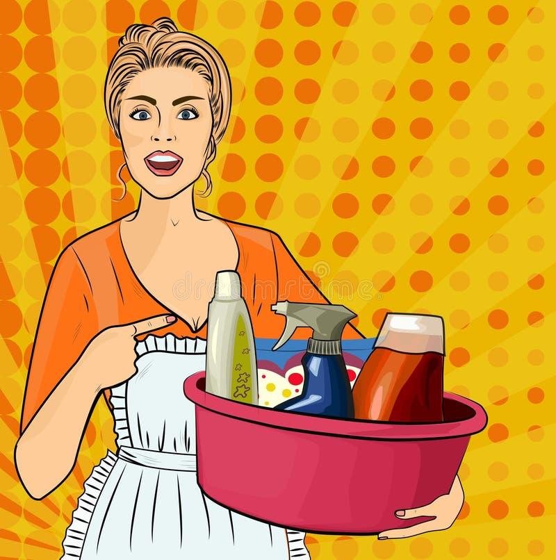 Uma dona de casa ilustração do vetor
