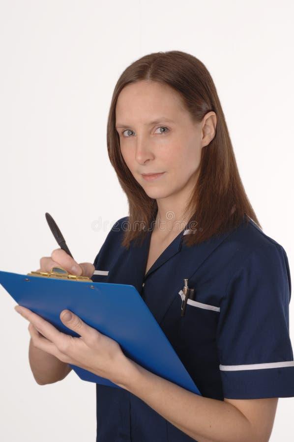 Uma enfermeira britânica imagens de stock