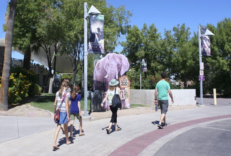 Uma entrada do jardim zoológico do parque de Reid, Tucson, o Arizona imagem de stock royalty free
