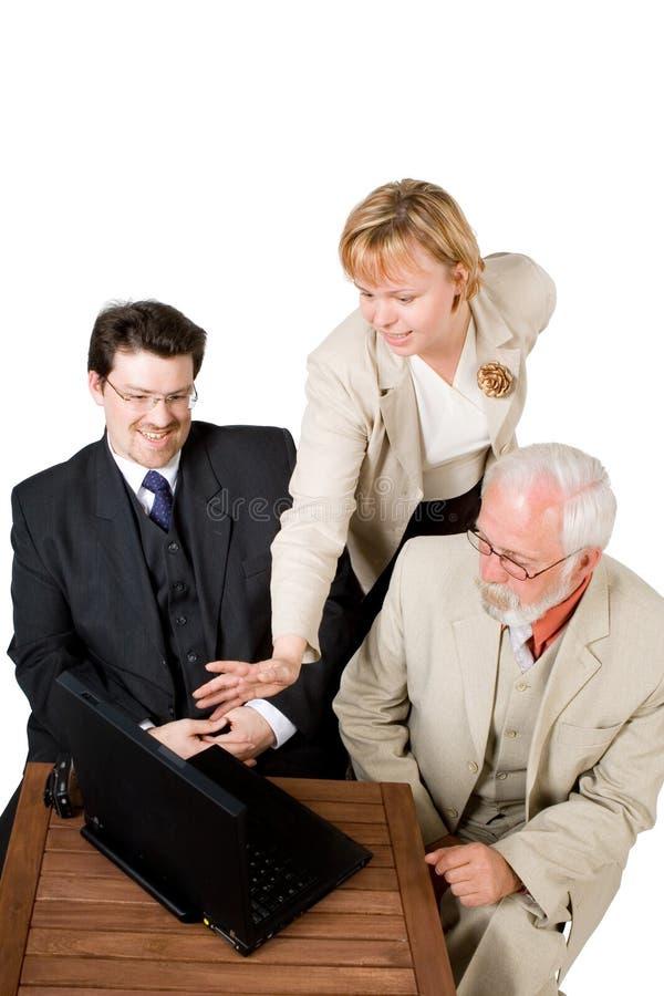 Uma equipe do negócio imagens de stock royalty free