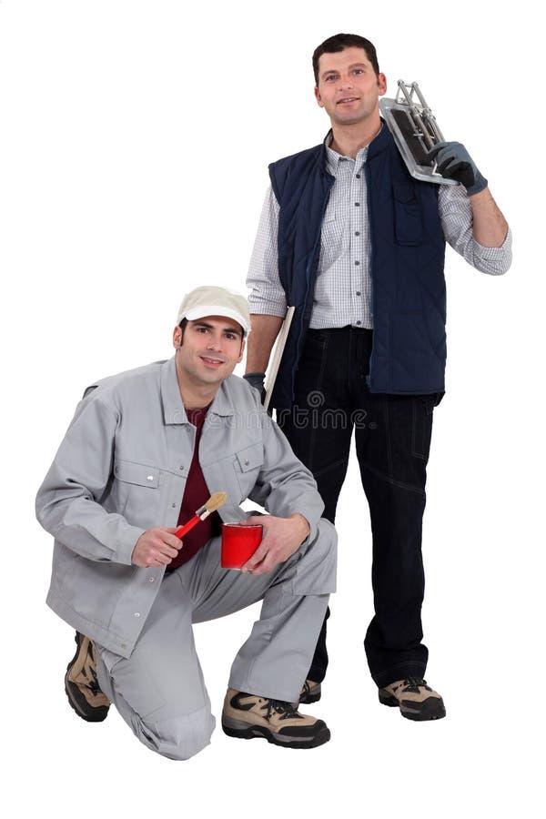 Uma equipe dos comerciantes foto de stock