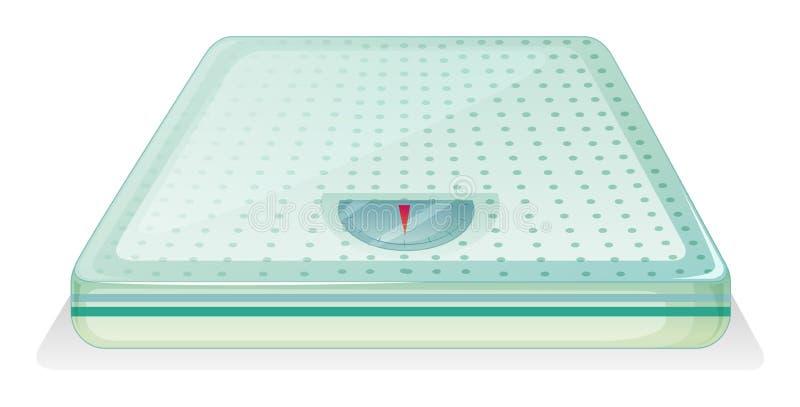 Uma escala de peso ilustração do vetor