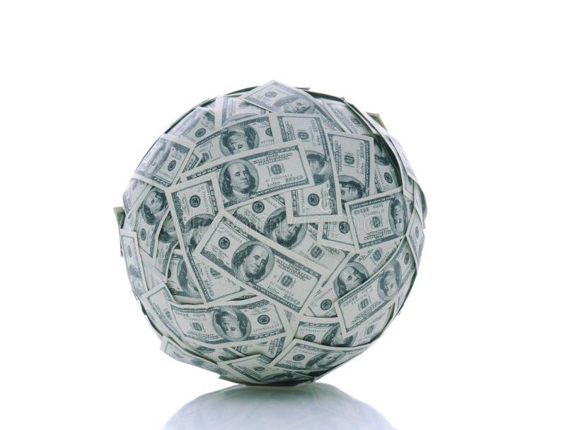Uma esfera do dinheiro imagens de stock