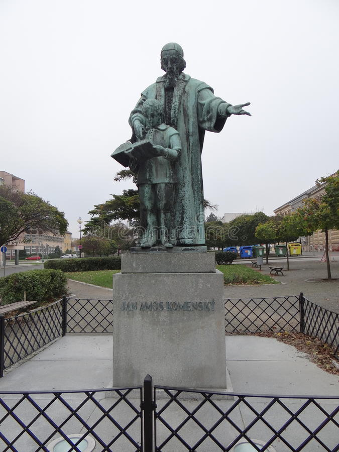 uma estátua - ½ de Jan Amos Komenskà foto de stock royalty free