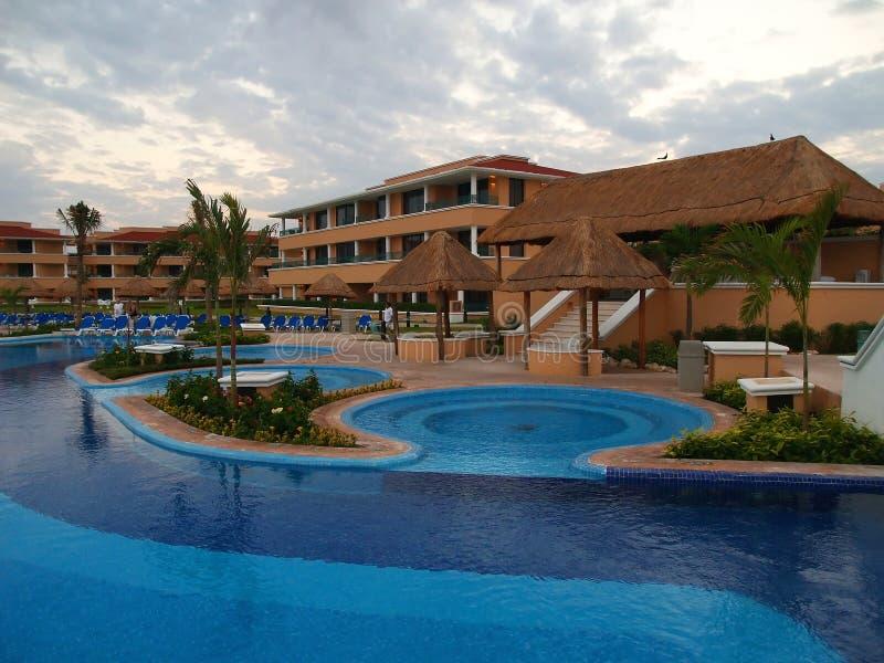 Uma estância de Verão em Cancun fotografia de stock royalty free