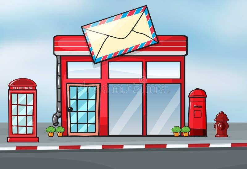 Uma estação de correios ilustração royalty free