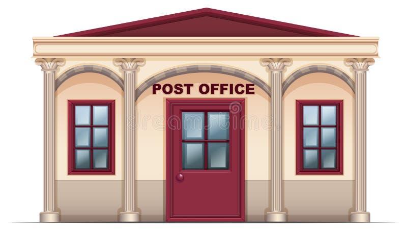Uma estação de correios ilustração do vetor