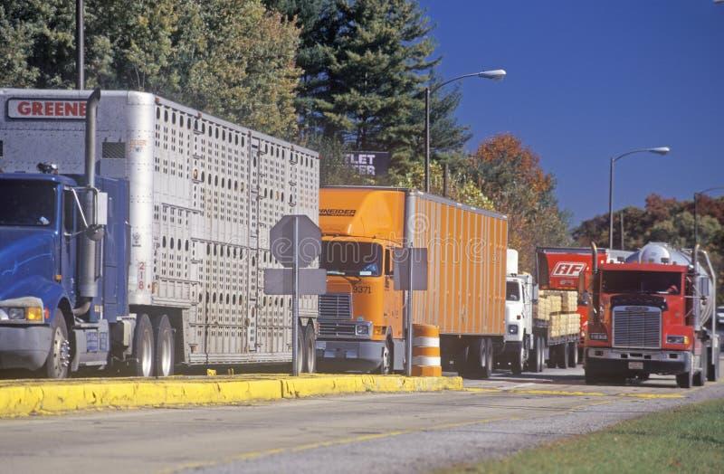 Uma estação de peso do caminhão em Ashville, North Carolina foto de stock royalty free