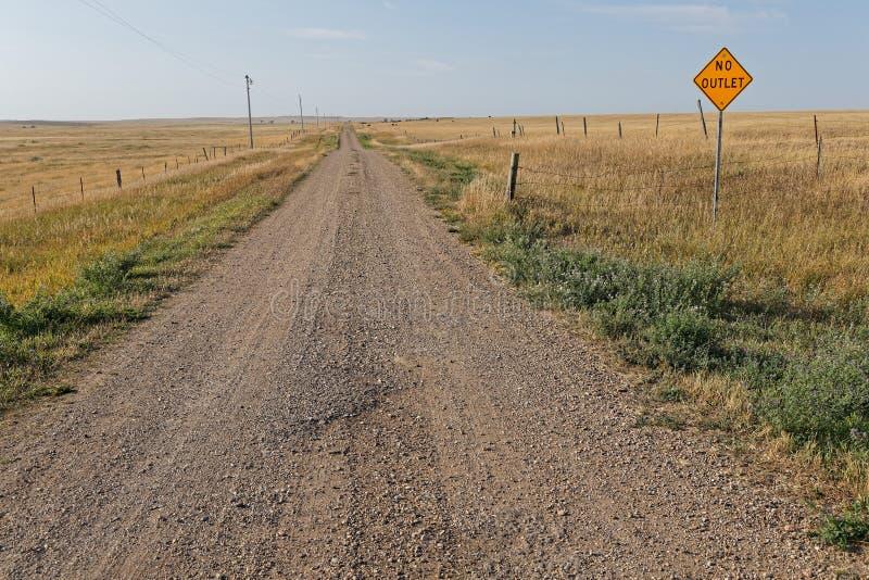 Uma estrada do campo de South Dakota imagens de stock