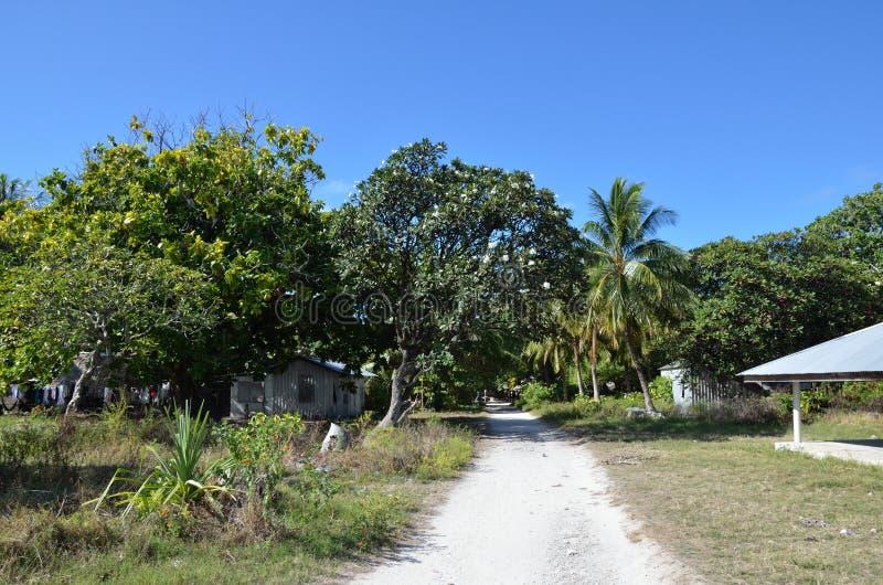Uma estrada em uma ilha fotografia de stock