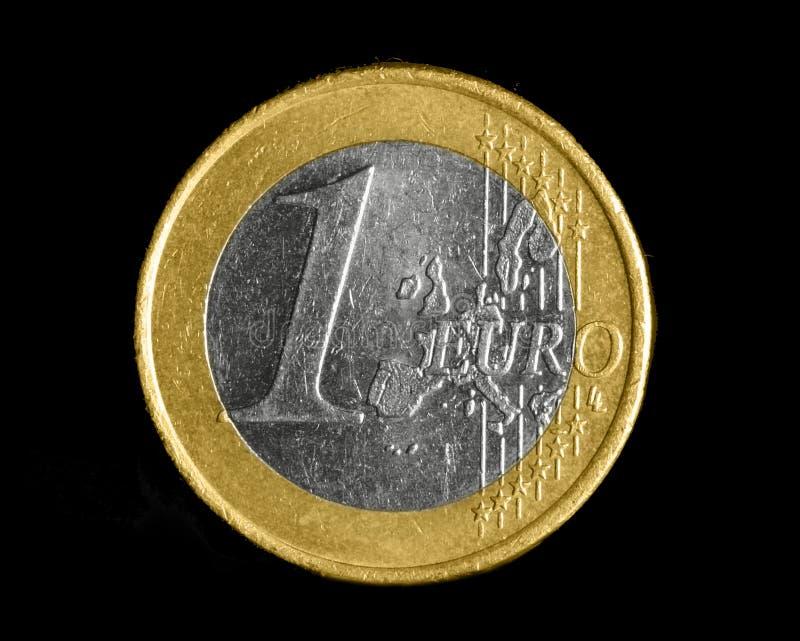 Uma euro- moeda foto de stock