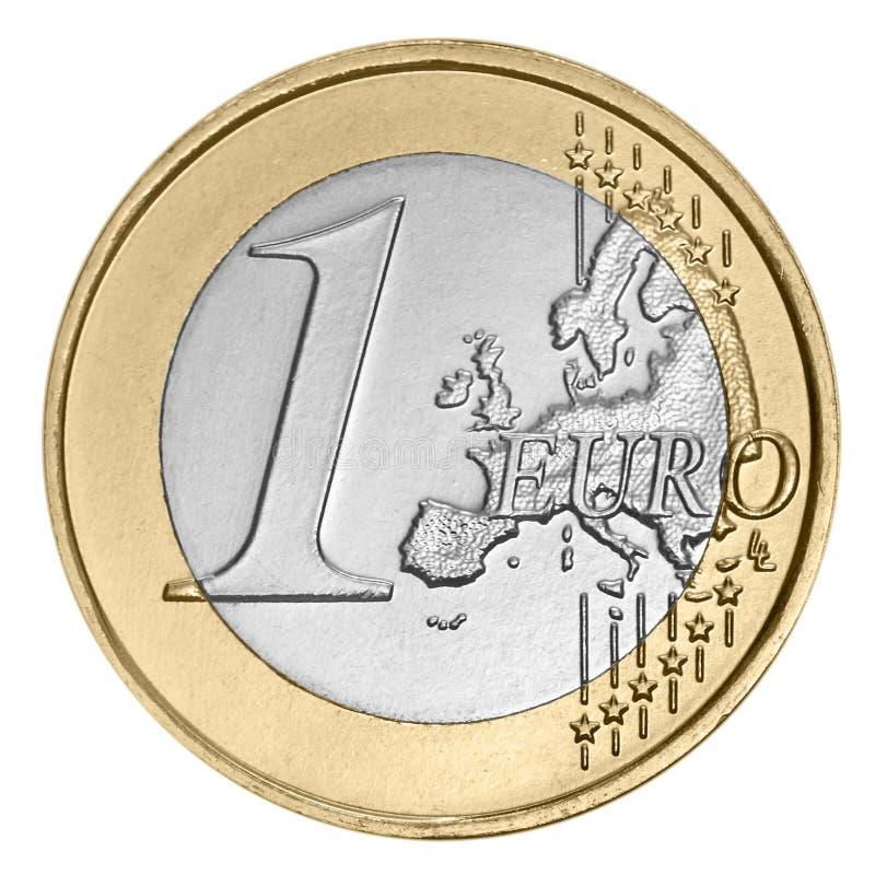 Uma euro- moeda foto de stock royalty free