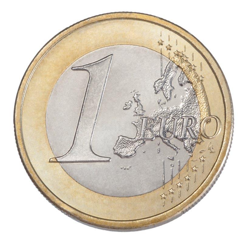 Uma euro- moeda imagem de stock royalty free