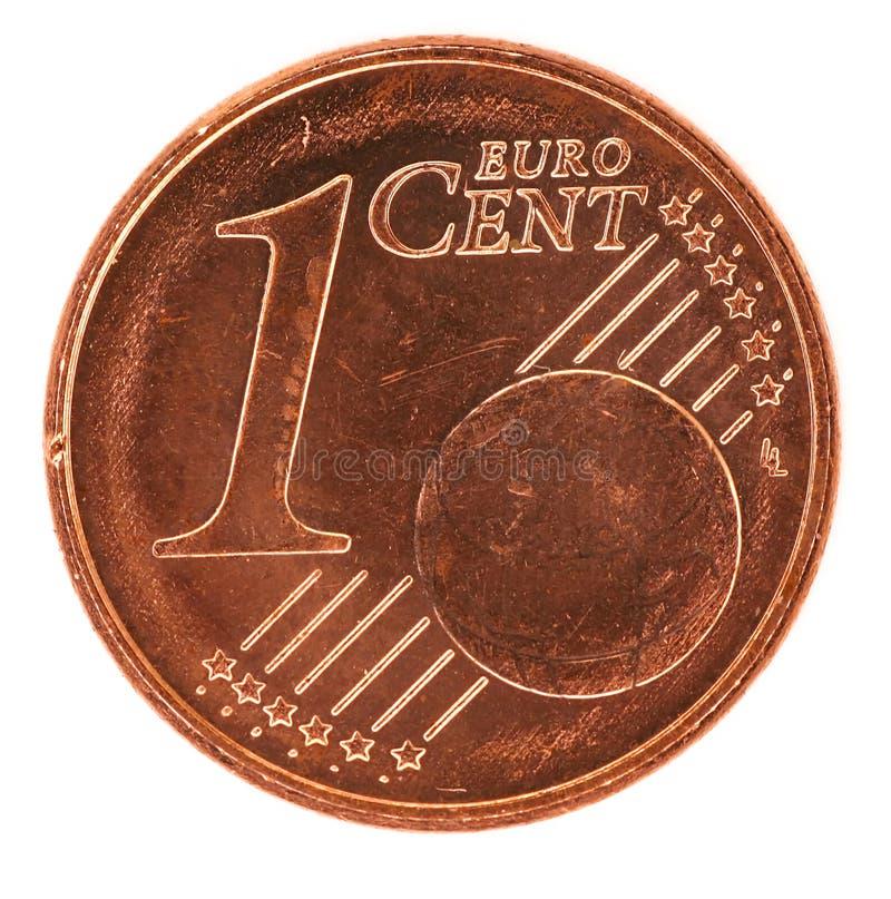 Uma euro- moeda do centavo fotos de stock royalty free