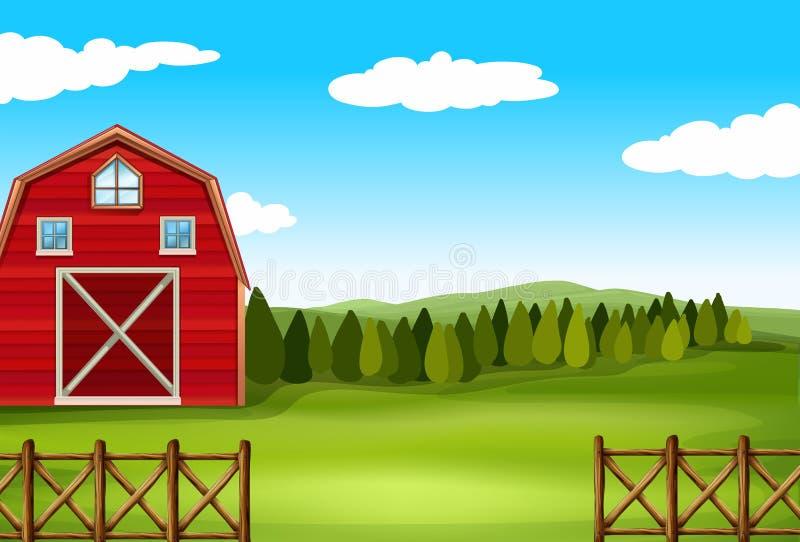 Uma exploração agrícola ilustração do vetor