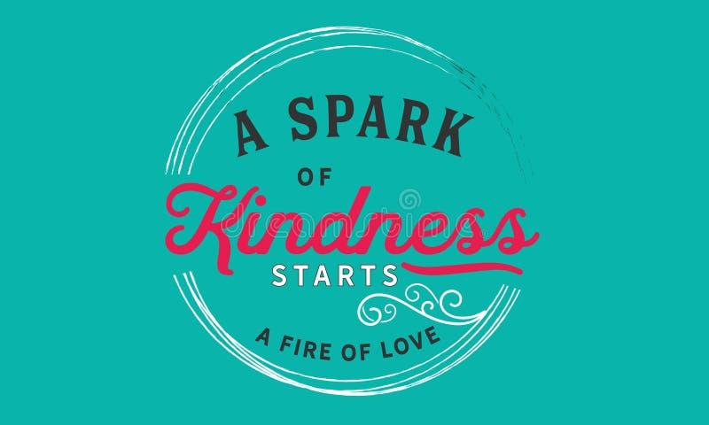 Uma faísca da bondade começa um fogo do amor ilustração stock