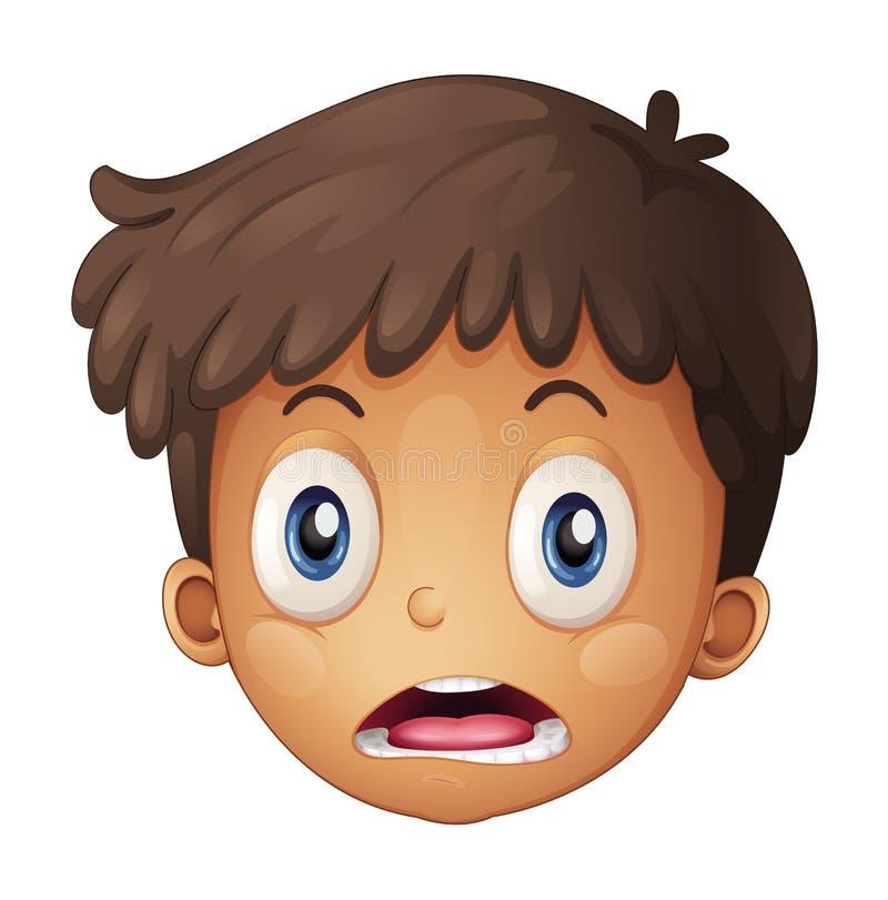 Uma face do menino ilustração royalty free