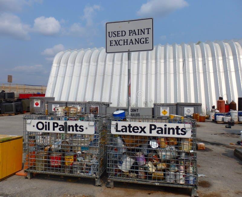 Uma facilidade bem organizada dos resíduos sólidos em yellowknife fotografia de stock royalty free
