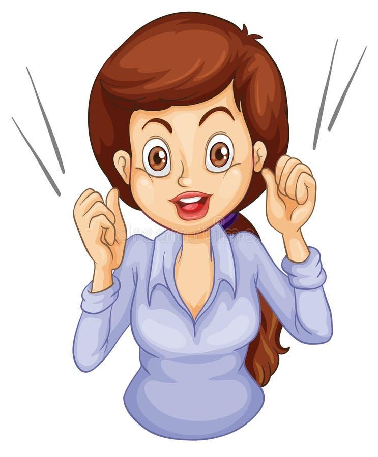 Uma Fala Fêmea Do ícone Do Negócio Fotos de Stock