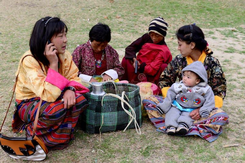 Uma família butanesa fotos de stock royalty free