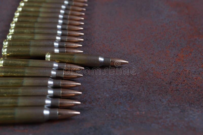 Uma fileira da munição fotografia de stock royalty free