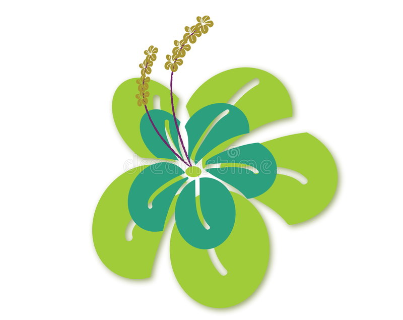 Uma flor do illustraion ilustração do vetor