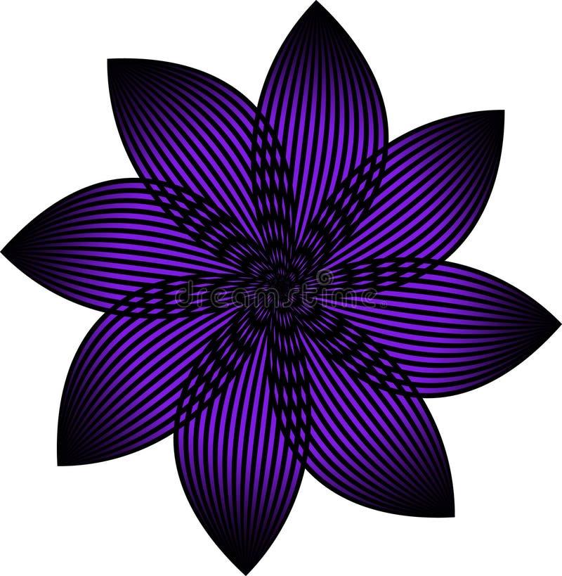 Uma flor ultravioleta do vetor fotos de stock royalty free