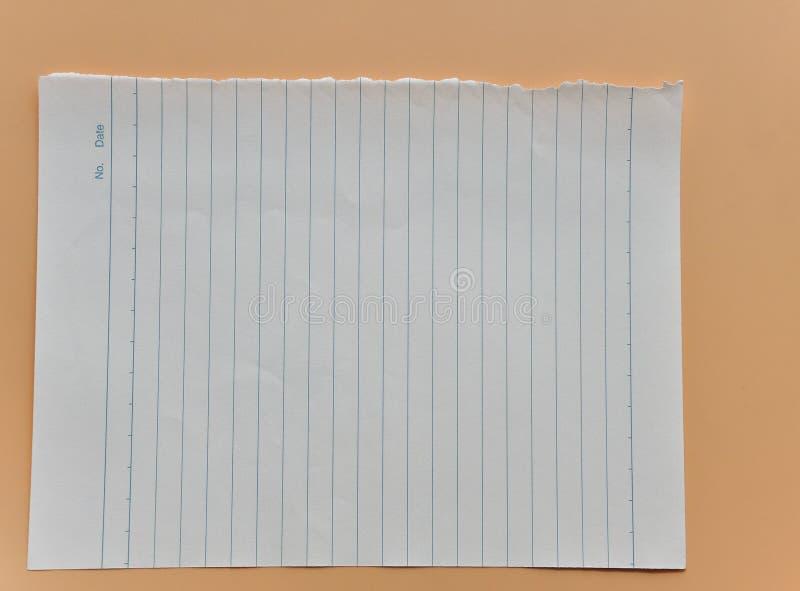 Uma folha do papel alinhado imagem de stock royalty free