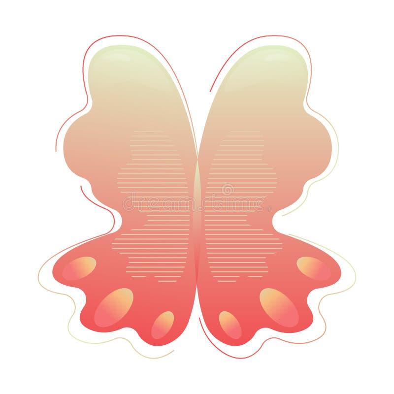 Uma forma moderna da borboleta do sum?rio Forma do sum?rio do inclina??o com elementos l?quidos do fluxo Recurso gr?fico para ilustração do vetor
