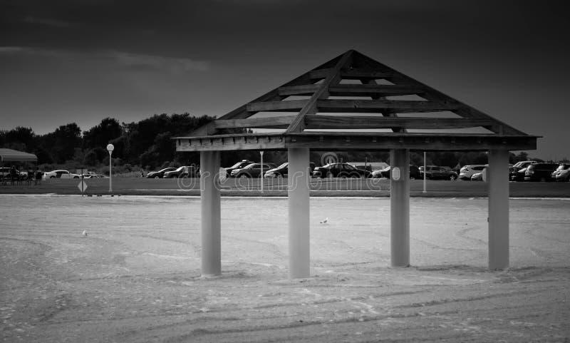 Uma foto da praia fotografia de stock