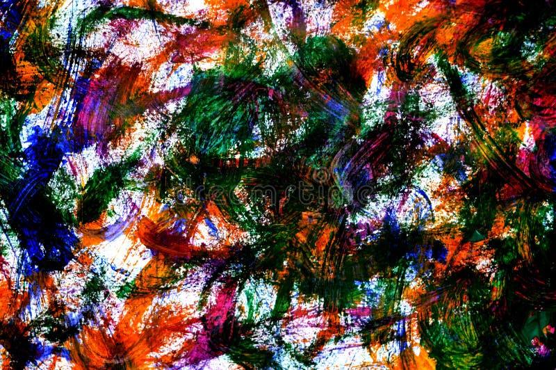 Uma foto de uma pintura abstrata do guache imagem de stock