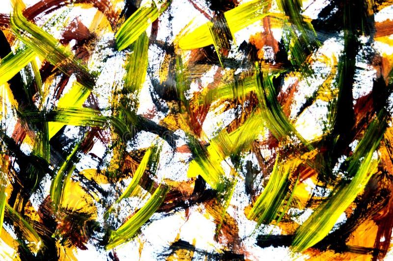 Uma foto de uma pintura abstrata do guache foto de stock royalty free