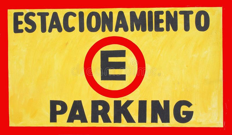 Um sinal do estacionamento imagem de stock