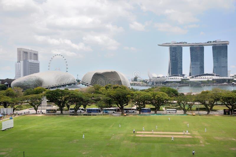 Uma foto tomada em alguns marcos populares em Singapura fotografia de stock royalty free
