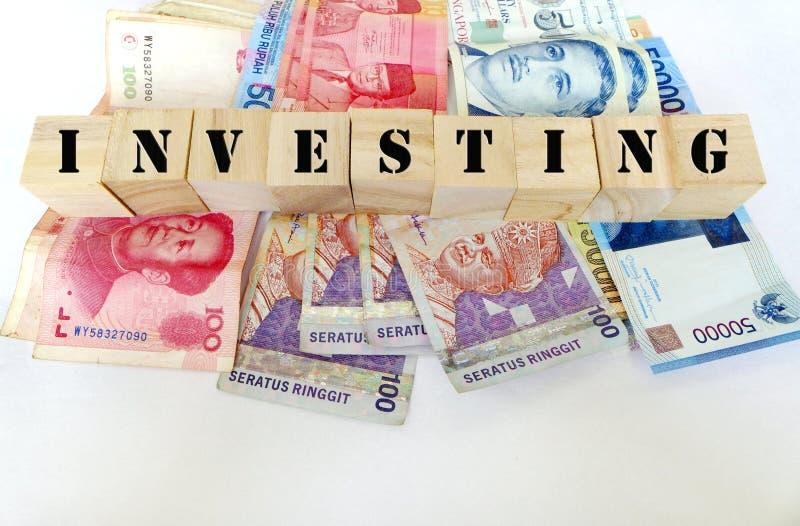 Investimento no conceito de Ásia imagem de stock