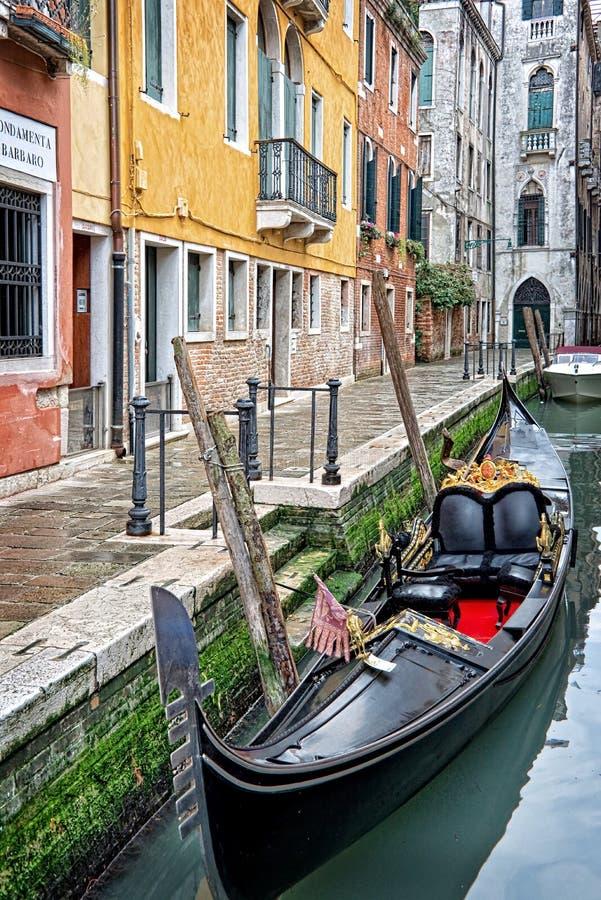 Uma gôndola em Veneza fotos de stock