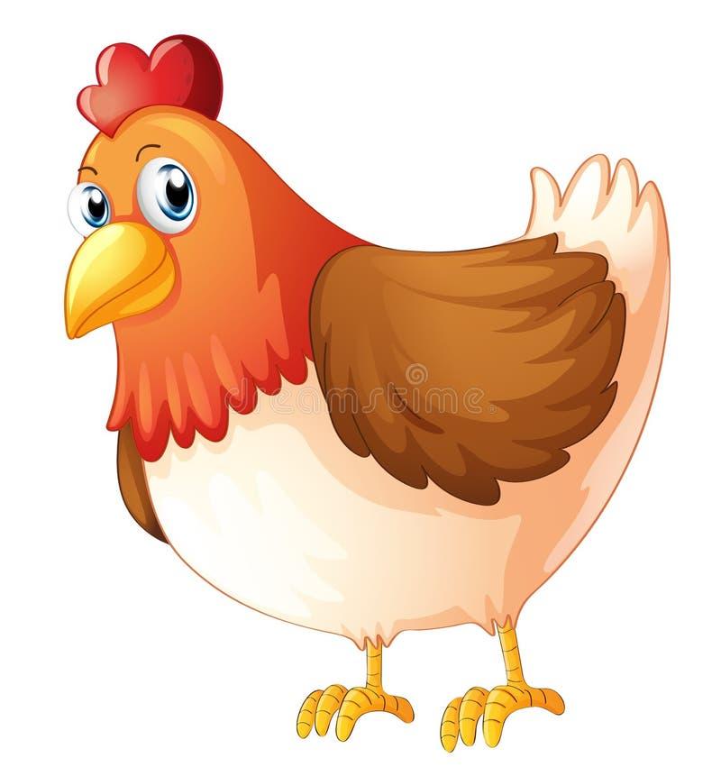 Uma galinha da mãe ilustração stock