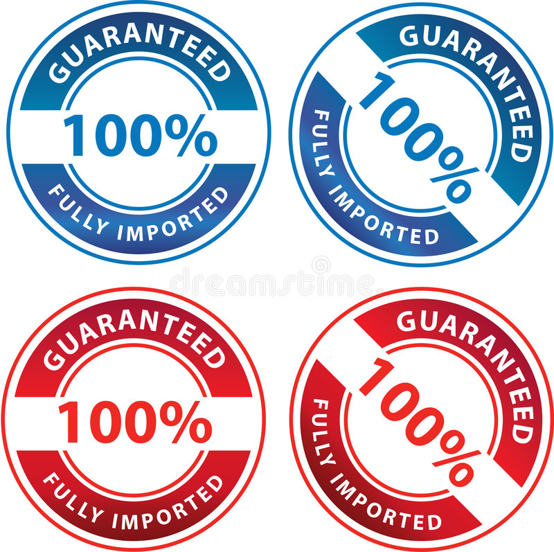 Uma garantia de 100 por cento ilustração do vetor