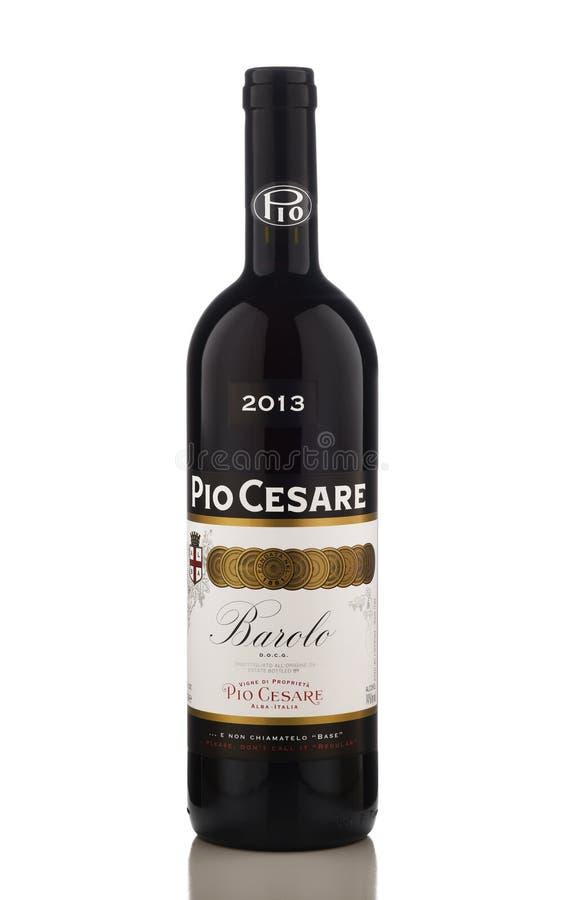 Uma garrafa de Pio Cesare Barolo Wine imagens de stock