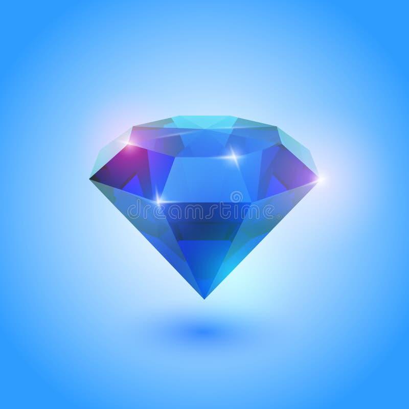 Uma gema bonita da safira ilustração royalty free