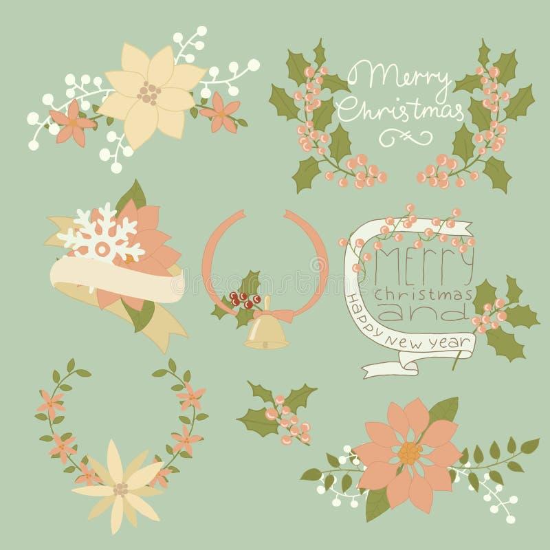 Uma grande coleção de artigos do Natal: ilustração royalty free
