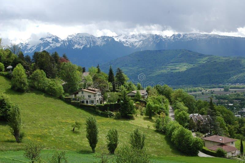 uma grande vista do sul de França imagem de stock