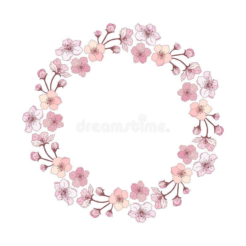 Uma grinalda das flores da ma ilustração royalty free