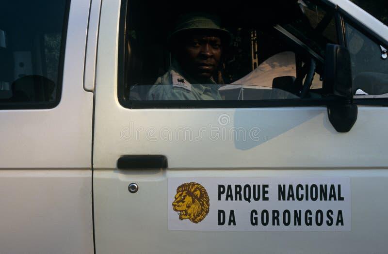 Uma Guarda Florestal Do Parque Nacional De Gorongosa, Mozambique Foto Editorial