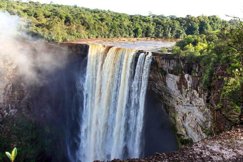 Uma ideia das quedas de Kaieteur, Guiana foto de stock royalty free