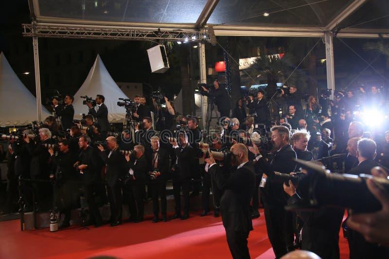 Uma ideia geral de festivais do DES de Palais da atmosfera imagens de stock royalty free