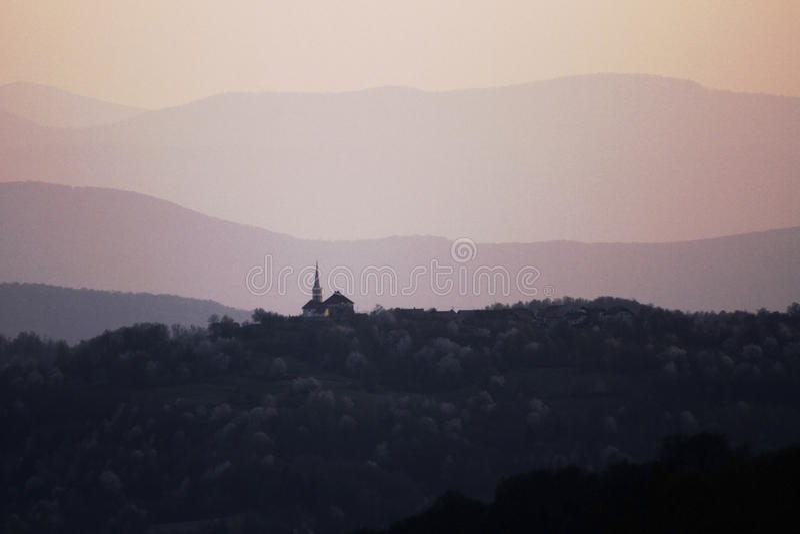 Uma igreja foto de stock royalty free