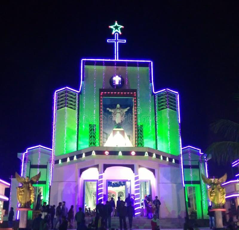 Uma igreja do LUGAR DE CULTO, Tezpur ASSAM fotos de stock